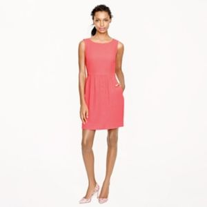 J. Crew Camille Sleeveless Dress in Neon Coral